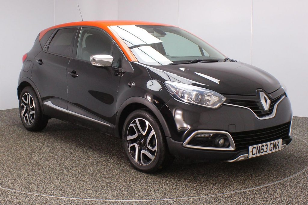 USED 2013 63 RENAULT CAPTUR 1.5 DYNAMIQUE S MEDIANAV ENERGY DCI S/S 5DR 90 BHP SERVICE HISTORY + FREE 12 MONTHS ROAD TAX + SATELLITE NAVIGATION + PARKING SENSOR + BLUETOOTH + CRUISE CONTROL + CLIMATE CONTROL + MULTI FUNCTION WHEEL + XENON HEADLIGHTS + PRIVACY GLASS + ELECTRIC WINDOWS + ELECTRIC MIRRORS + 17 INCH ALLOY WHEELS