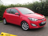 USED 2014 64 HYUNDAI I20 1.2 ACTIVE 3d * 1 OWNER * 12 MONTHS FREE AA MEMBERSHIP * 128 POINT AA INSPECTED *