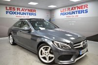 USED 2015 64 MERCEDES-BENZ C CLASS 2.1 C220 BLUETEC AMG LINE PREMIUM 4d AUTO 170 BHP Panoramic roof, Sat Nav, Cruise control, Cheap Tax