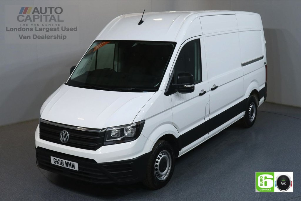 USED 2018 18 VOLKSWAGEN CRAFTER 2.0 CR35 TDI TRENDLINE 138 BHP MWB EURO 6 ENGINE AIR CON, FRONT- REAR PARKING SENSORS