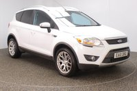USED 2010 10 FORD KUGA 2.0 TITANIUM TDCI 2WD 5DR SAT NAV HALF LEATHER SEATS 134 BHP FULL SERVICE HISTORY + HALF LEATHER SEATS + SATELLITE NAVIGATION + PARKING SENSOR + BLUETOOTH + CRUISE CONTROL + CLIMATE CONTROL + MULTI FUNCTION WHEEL + RADIO/CD/AUX/USB + PRIVACY GLASS + ELECTRIC MIRRORS + ELECTRIC WINDOWS + 18 INCH ALLOY WHEELS