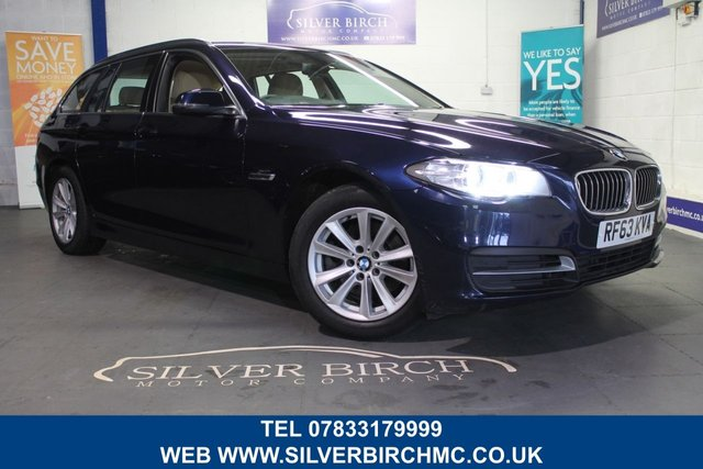 USED 2013 63 BMW 5 SERIES 2.0 520D SE TOURING 5d AUTO 181 BHP Navigation, Finance Available