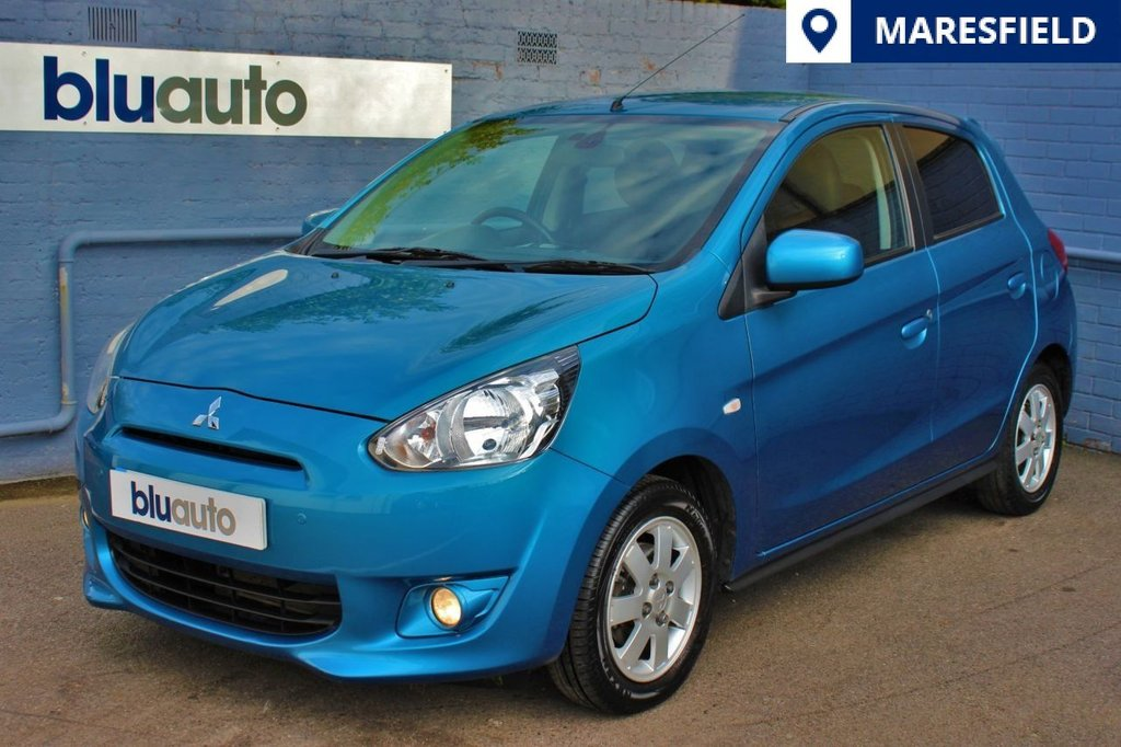 USED 2014 63 MITSUBISHI MIRAGE 1.2 3 5d 79 BHP 2 Owners, Full Service History,Font/Rear Sensors, Automatic Lights/Wipers, Climate Control, Start/Stop Button, Privacy Glass, AUX Connection...