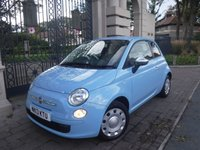 USED 2013 13 FIAT 500 1.2 POP 3d 69 BHP *FINANCE ARRANGED*PART EXCHANGE WELCOME*2 KEYS*£30 TAX*CD PLAYER*AM/FM*SERVICE HISTORY*CITY STEERING MODE
