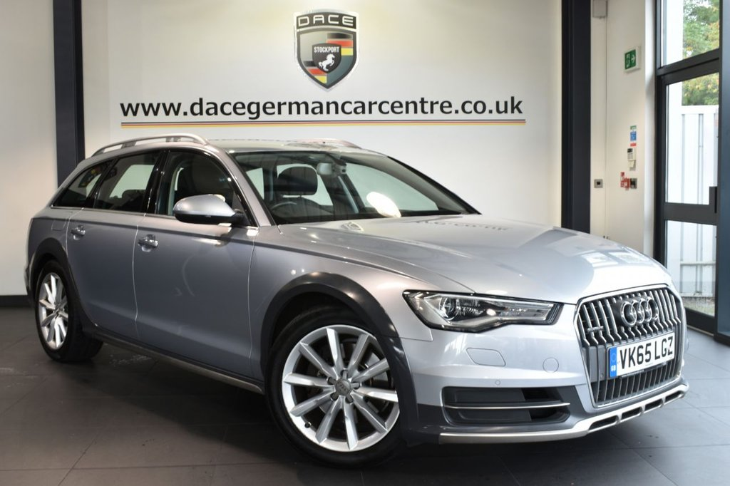 "USED 2016 65 AUDI A6 AllRoad 3.0 ALLROAD TDI QUATTRO 5DR AUTO 215 BHP full service history Finished in a stunning floret metallic silver styled with 19"" alloys. Upon opening the drivers door you are presented with full leather interior, full service history, satellite navigation, Bluetooth, heated front/rear seats, xenon lights, dab radio, cruise control, climate control, heated mirrors, parking sensors"