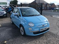 USED 2013 63 FIAT 500 1.2 LOUNGE 3d 69 BHP £30 ROAD TAX-SERVICE HISTORY-LOW MILEAGE-1 FORMER KEEPER-PAN ROOF-BLUETOOTH