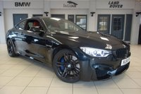 USED 2014 14 BMW M4 3.0 M4 2d 426 BHP FINISHED IN STUNNING SAPPHIRE BLACK METALLIC WITH CONTRASTING FULL CORAL RED LEATHER HEATED SEATS + BMW SERVICE HISTORY + PROFESSIONAL SATELLITE NAVIGATION + HEAD UP DISPLAY + FRONT HEATED M SPORT SEATS + DAB DIGITAL RADIO + PARKING SENSORS + XENON HEADLIGHTS + CLIMATE CONTROLLED DUAL ZONE AUTOMATIC AIR CONDITIONING + CRUISE CONTROL + 19INCH M DOUBLE SPOKE GLOSS BLACK ALLOY WHEELS