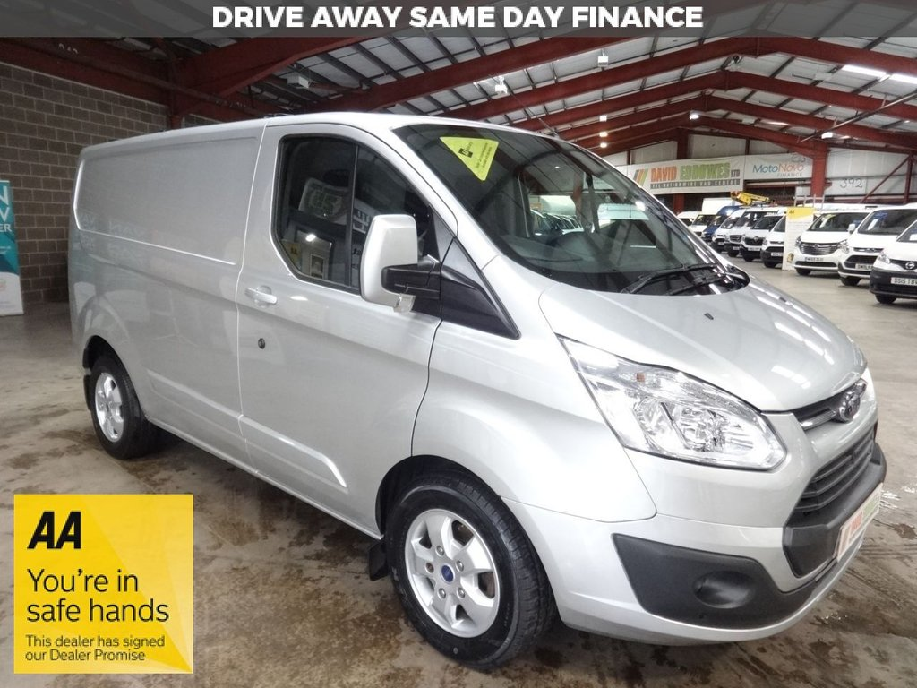 USED 2016 66 FORD TRANSIT CUSTOM 2.0 270 LIMITED LR P/V 130 BHP - EURO 6 - SWB VAN AA DEALER WARRANTY PROMISE - TRADING STANDARDS APPROVED