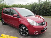 USED 2013 62 NISSAN NOTE 1.6 N-TEC PLUS 5d AUTO * 12 MONTHS FREE AA MEMBERSHIP * 128 POINT AA INSPECTED *