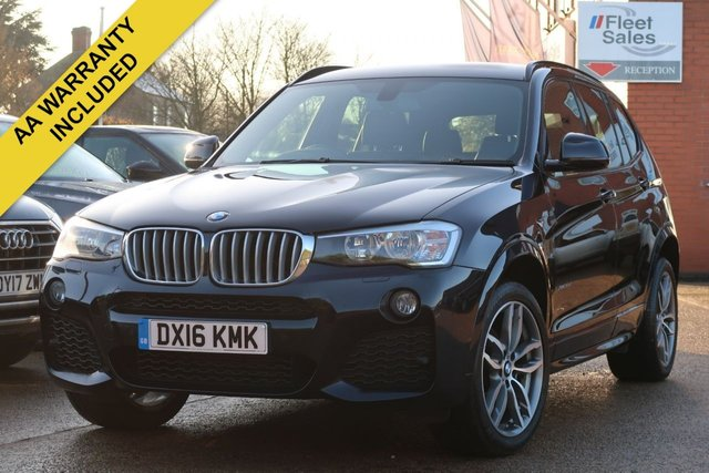 USED 2016 16 BMW X3 3.0 XDRIVE30D M SPORT 5d AUTO 255 BHP SATELLITE NAVIGATION, BLACK LEATHER INTERIOR, HEATED SEATS, ELECTRIC TAILGATE
