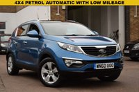 USED 2010 60 KIA SPORTAGE 2.0 KX-2 5d 160 BHP Be ready for the winter with this November 2010 Kia Sportage 2.0 petrol KX-2 Automatic 5 door in blue metallic with just 68000 miles.
