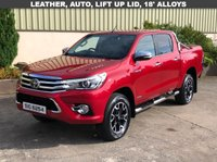 USED 2017 TOYOTA HI-LUX 2.4 INVINCIBLE X 4WD D-4D DCB 1d AUTO 148 BHP REAR LIFT UP LID, LEATHER