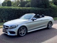 USED 2016 66 MERCEDES-BENZ C CLASS 2.1 C220d AMG Line Cabriolet G-Tronic+ (s/s) 2dr 1OWNER+NECK SCARF+FMSH+REVCAM
