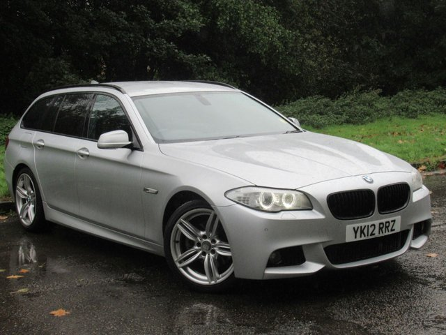 USED 2012 12 BMW 5 SERIES 2.0 520D M SPORT TOURING 5d AUTO 181 BHP SATELLITE NAVIGATION, FULL HEATED LEATHER