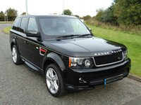USED 2012 12 LAND ROVER RANGE ROVER SPORT 3.0 SDV6 HSE RED 5d AUTO 255 BHP BLACK/IVORY LEATHER, COOL BOX