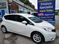 USED 2016 16 NISSAN NOTE 1.2 ACENTA PREMIUM 5d 80 BHP, only 17000 miles ***APPROVED DEALER FOR CAR FINANCE247 AND ZUTO ***