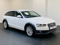 USED 2015 64 AUDI A4 ALLROAD 3.0 TDI QUATTRO 5d AUTO 240 BHP 1 OWNER + LOW MILES + STUNNER IN WHITE WITH BLACK LEATHER + FINANCE AVAILABLE