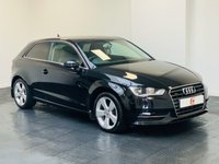 USED 2014 14 AUDI A3 2.0 TDI QUATTRO SPORT 3d AUTO 184 BHP LOW MILES + QUATTRO + SAT NAV + AUTOMATIC + FINANCE AND PART EXCHANGE