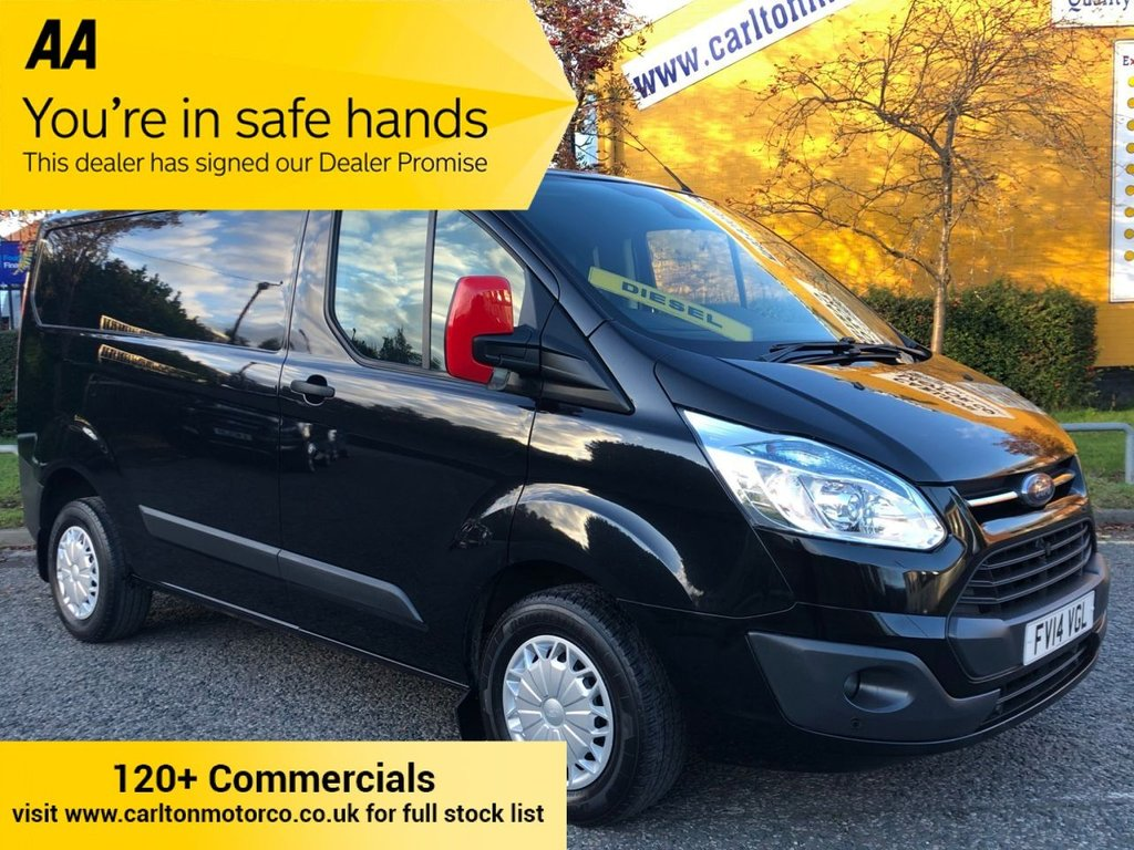 USED 2014 14 FORD TRANSIT CUSTOM 270 TDCi 125 L1 TREND LOW ROOF VAN Low Mileage,