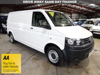 USED 2014 14 VOLKSWAGEN TRANSPORTER 2.0 T30 TDI P/V STARTLINE 102 BHP LWB VAN '' YOU'RE IN SAFE HANDS  ''  WITH THE AA DEALER PROMISE