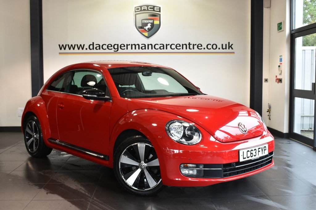 """USED 2014 63 VOLKSWAGEN BEETLE 2.0 SPORT TDI DSG 3DR AUTO 139 BHP full service history Finished in a stunning red styled with 18"""" alloys. Upon opening the drivers door you are presented with cloth upholstery, full service history, bluetooth, dab radio, cruise control, climate control, heated electric folding mirrors, auxiliary port, multi-functional steering wheel, parking sensors"""