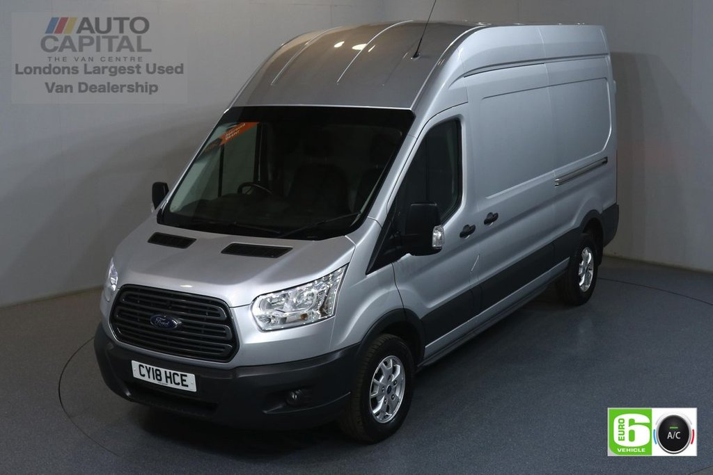 USED 2018 18 FORD TRANSIT 2.0 350 TREND L3 H3 129 BHP EURO 6 ENGINE AIR CON, F-R PARKING SENSORS, ALLOY WHEEL