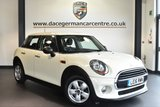 """USED 2016 16 MINI HATCH ONE 1.2 ONE 5DR 101 BHP full mini service history - £30 road tax Finished in a stunning pepper white styled with 15"""" alloy wheels. Upon opening the drivers door you are presented with cloth upholstery, full mini service history, bluetooth, dab radio, £30 road tax, front/rear fog lights, Air conditioning, Intelligent emergency call, Isofix-System, Colour Line Carbon Black, On-board computer, Automatic locking during starting"""