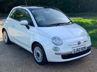 USED 2012 62 FIAT 500 1.2 LOUNGE 3d 69 BHP S/H, Alloy Wheels, Pano Roof
