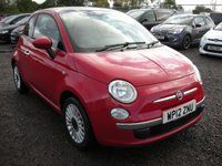 USED 2012 12 FIAT 500 1.2 LOUNGE 3d 69 BHP Pan roof - Air con