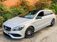 USED 2017 17 MERCEDES-BENZ CLA 2.1 CLA220d AMG Line Shooting Brake 7G-DCT (s/s) 5dr PAN ROOF 19S FSH STUNNER!
