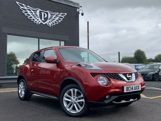 USED 2014 14 NISSAN JUKE 1.5 ACENTA PREMIUM DCI 5d 110 BHP AA WARRANTY,  MOT AND SERVICE INCLUDED