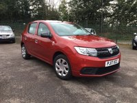 2017 DACIA SANDERO 1.2 AMBIANCE 5d  WITH AIR CONDITIONING  £5000.00