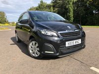 USED 2015 15 PEUGEOT 108 1.0 ACTIVE 5d 68 BHP 1 YEAR WARRANTY. LOW MILLAGE. £0 ROAD TAX