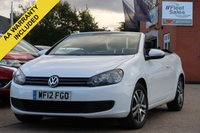 USED 2012 12 VOLKSWAGEN GOLF 1.6 S TDI BLUEMOTION TECHNOLOGY 2d 104 BHP CONVERTIBLE, NATIONWIDE DELIVERY + FINANCE AVAILABLE