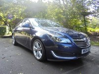 USED 2014 14 VAUXHALL INSIGNIA 2.0 DESIGN CDTI ECOFLEX S/S 5d 118 BHP LONG MOT UNTIL JULY 2020 - SERVICE HISTORY