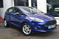 USED 2016 16 FORD FIESTA 1.2 ZETEC 5d 81 BHP CRACKING FIESTA 5 DOOR IN DEEP IMPACT BLUE