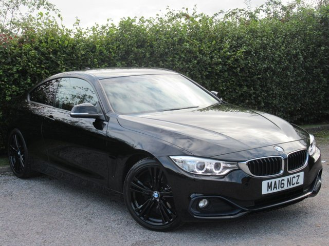 USED 2016 16 BMW 4 SERIES 2.0 420D SPORT 2d * SATALLITE NAVIGATION * BLUETOOTH * ONE OWNER FROM NEW *