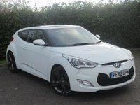 USED 2012 62 HYUNDAI VELOSTER 1.6 GDI SPORT 4d  * FULL MAIN DEALER SERIVCE HISTORY * SUNROOF *