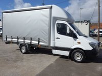2014 MERCEDES-BENZ SPRINTER 313 CDI AUTOMATIC MWB CURTAIN SIDER, 130 BHP [EURO 5] £12995.00