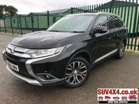 USED 2015 65 MITSUBISHI OUTLANDER 2.3 DI-D GX 3 5d 147 BHP FACELIFT 7 SEATER SATNAV FSH 4WD. 7 SEATER. SATELLITE NAVIGATION. SUNROOF. STUNNING BLACK MET WITH FULL BLACK LEATHER TRIM. ELECTRIC HEATED SEATS. CRUISE CONTROL. 18 INCH ALLOYS. COLOUR CODED TRIMS. PRIVACY GLASS. REVERSING CAMERA. BLUETOOTH PREP. CLIMATE CONTROL INCLUDING AIR CON. MEDIA CONNECTIVITY. MANUAL 6 SPEED. MFSW. MOT 07/20. SERVICE HISTORY. SUV4X4 USED SUV CENTRE LS23 7FR. TEL 01937 849492. OPTION 2
