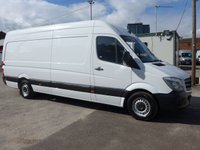 2016 MERCEDES-BENZ SPRINTER 313 CDI LWB HI ROOF, 130 BHP [EURO 5] £SOLD