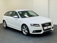 USED 2010 60 AUDI A4 2.0 AVANT TDI S LINE DPF 5d 141 BHP LOW MILES + STUNNER IN WHITE + HALF LEATHER + SERVICE HISTORY