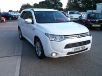 USED 2014 14 MITSUBISHI OUTLANDER 0.0 PHEV GX 4H 5d AUTO 162 BHP Beautifully Maintained Hybrid Outlander With Full Dealer History a Long MOT and 2 Keys!