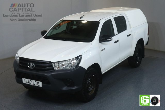 2017 17 TOYOTA HI-LUX 2.4 ACTIVE 4WD D-4D DCB 148 BHP EURO 6 ENGINE AIR CON, VOICE CONTROL, ECO MODE, HEATED SCREEN