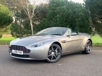 USED 2008 58 ASTON MARTIN VANTAGE 4.3 V8 ROADSTER 2d 380 BHP ONE OWNER CAR WITH FSH IN METEORITE GREY BLACK HEATED LEATHER 32000 MILES