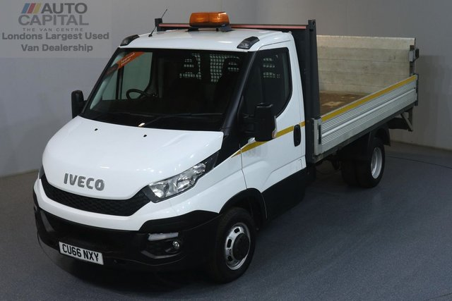 2016 66 IVECO DAILY 2.3 35 RWD TWIN WHEEL 126 BHP ULEZ COMPLIANT DROPSIDE  REAR TAIL LIFT FITTED, LIGHTFOOT TO REDUCE EMISSION AND SAVE FUEL