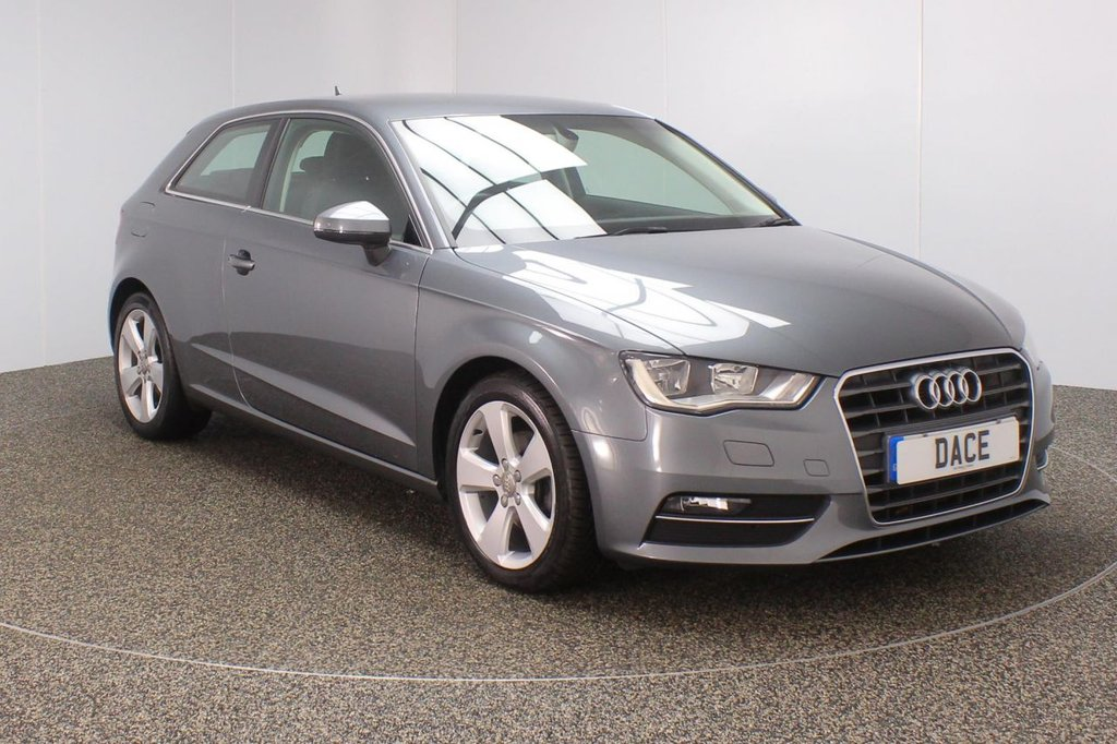 USED 2014 14 AUDI A3 1.6 TDI SPORT 3DR 104 BHP FREE 12 MONTHS ROAD TAX + PARKING SENSOR + BLUETOOTH + CRUISE CONTROL + CLIMATE CONTROL + MULTI FUNCTION WHEEL + DAB RADIO + ELECTRIC WINDOWS + ELECTRIC MIRRORS + 17 INCH ALLOY WHEELS