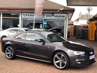 USED 2014 14 AUDI A5 2.0TDI BLACK EDITION 2d AUTO 177 BHP Free MOT for Life