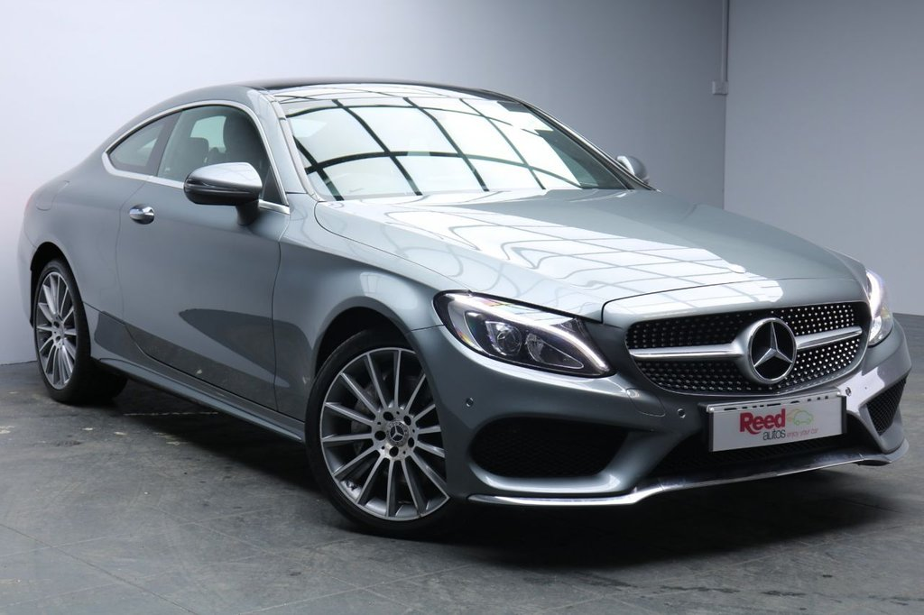 "USED 2017 17 MERCEDES-BENZ C CLASS 2.1 C 250 D 4MATIC AMG LINE PREMIUM 2d 201 BHP 19""ALLOYS+FULL SERVICE HISTORY+NAV+LEATHER+PAN ROOF+PARKING SENSORS+SEAT MEMORY"