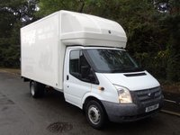 USED 2014 14 FORD TRANSIT T350 2.2TDCI 124 BHP LWB 13FT 6IN LUTON WITH TAILLIFT 500KG TAILLIFT+ELEC WIND+